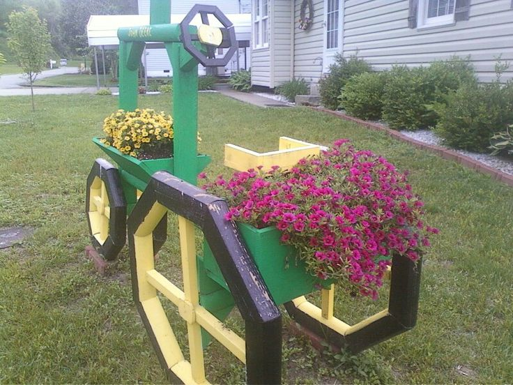 Landscape Timbers Planters : Landscape timber tractor with flowers planters landscapes tractors and flower