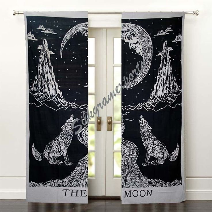 Indian Mandala Wall Tapestry, Crying Wolf Door Window Curtain Valances set 2 pcs #Unbranded #Traditional