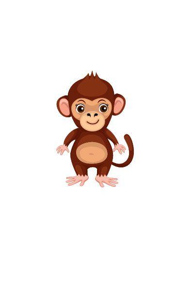 Monkey Vector Image #wild #animals #vector #handdrawvector #monkey http://www.vectorvice.com/wild-animals-vector-pack