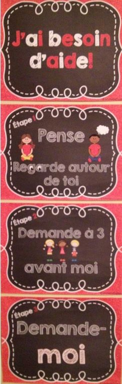 Belles affiches décoratives pour rendre vos élèves autonomes.