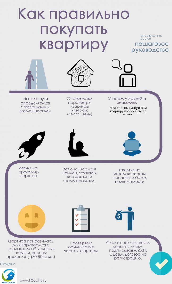 Инфографика: как правильно покупать квартиру | Prime Quality. 8 (495) 782-4399