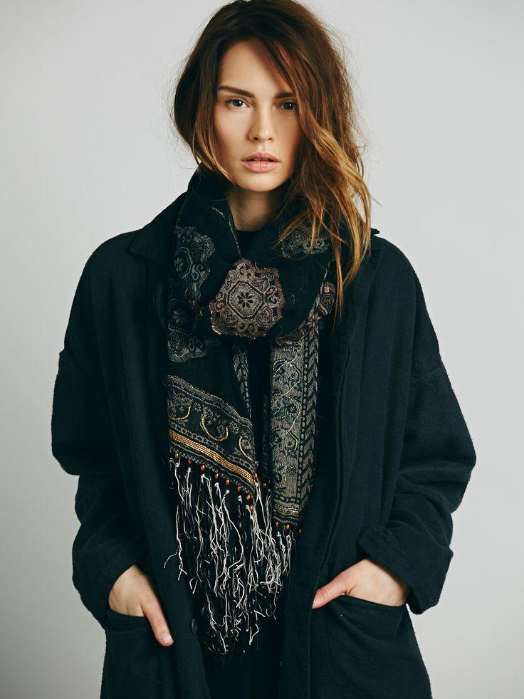 Le look bohème : de longues écharpes #MbyCristina #teva #look #boheme
