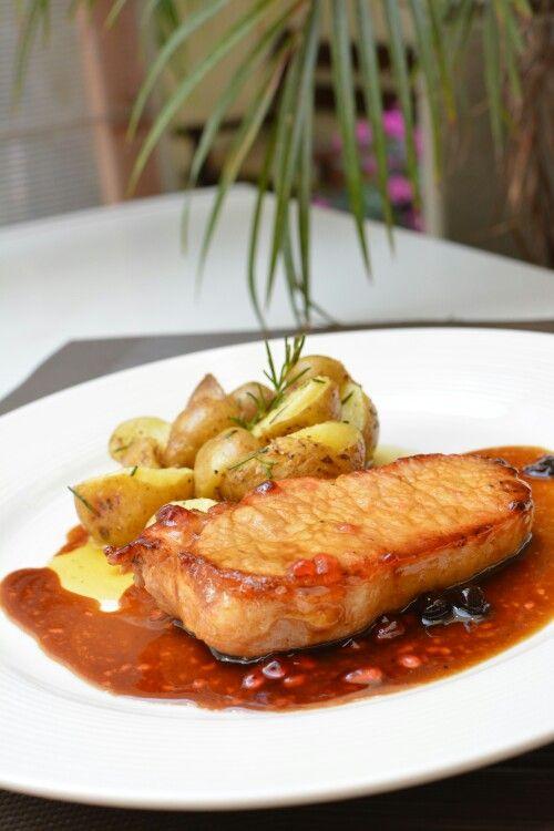 Churrasco de cerdo en salsa de tamarindo