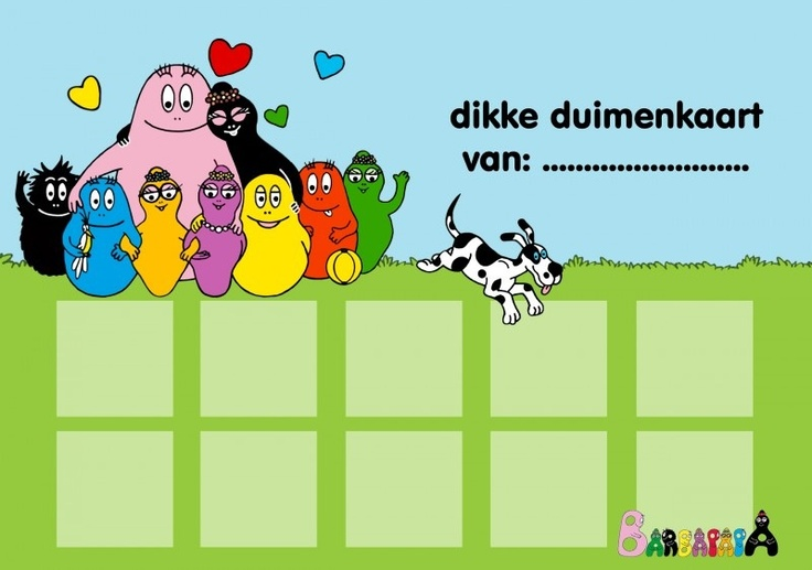 Beloningskaart Barbapappa