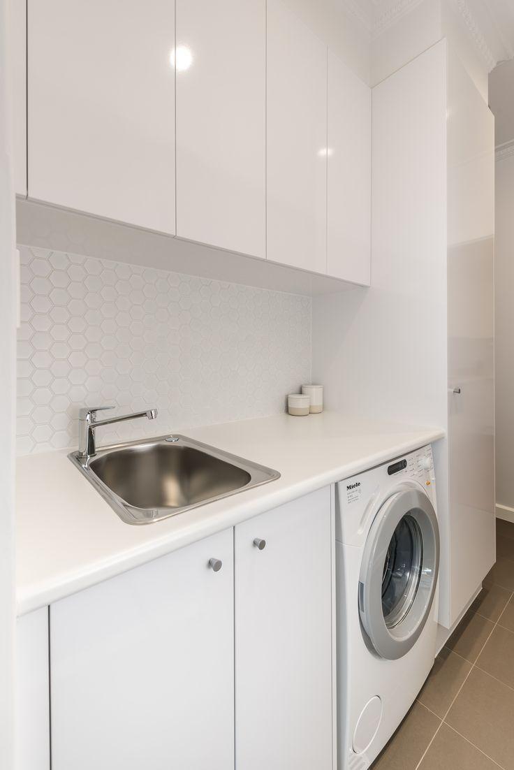 Small Compact Laundry with Plenty of Benchspace #brilliantsa #renovation #laundry #compact
