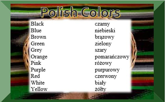 Colors | Polski