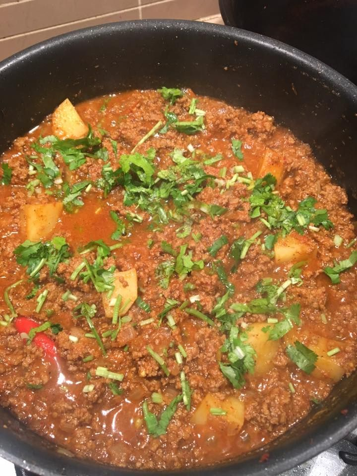 Delicious, hearty Goan Beef Kheema - an Indian version of a beef chilli.