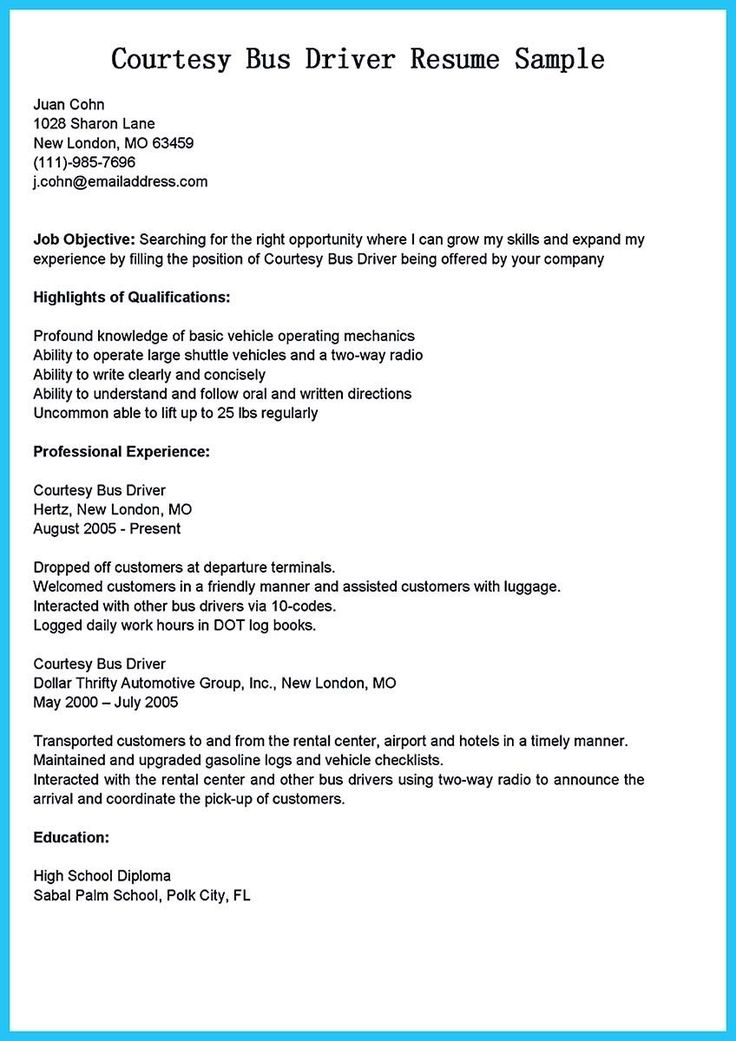 Cdl truck driver job description for resume awesome pin on