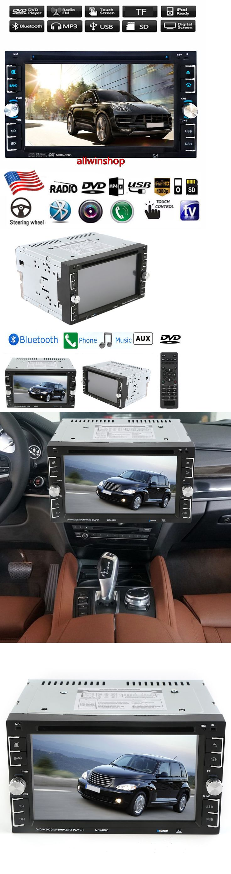 Vehicle Electronics And GPS: Hd Touch Screen Double 2Din 6.2 Car Stereo Dvd Cd Mp3 Player Bluetooth Radio T -> BUY IT NOW ONLY: $66.77 on eBay!