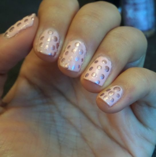 Champagne Bubbles Nails