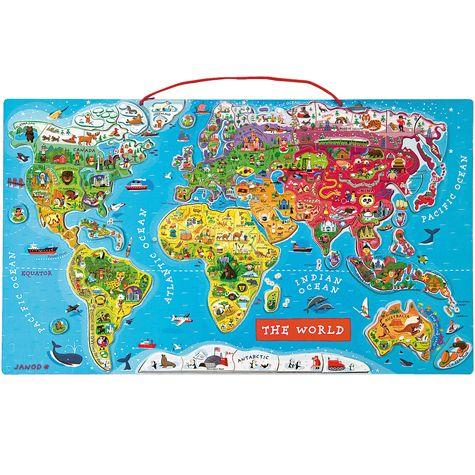 magnetické puzzle - svět | Dětské hračky pro holky i kluky | ookidoo.com