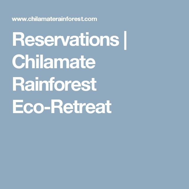 Reservations | Chilamate Rainforest Eco-Retreat