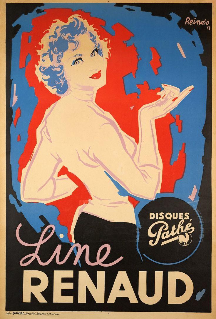 Line Renaud, Disques Pathé REINOSO  (1954)