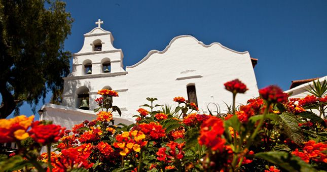 Mission San Diego de Alcala in Old Town, is the first of 21 missions that line the California coast.