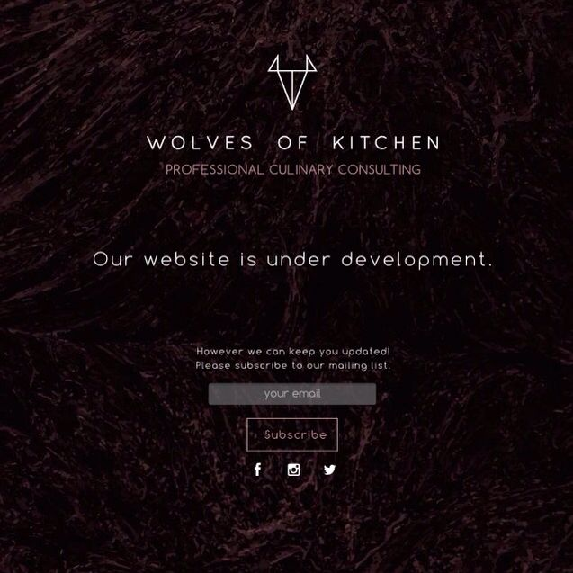 Wolves of Kitchen - Under construction page.  www.wolvesofkitchen.com