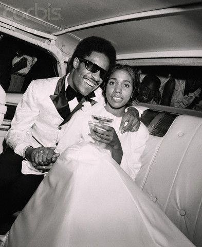 My Cherie Amour. The incomparable Stevie Wonder with his first wife, singer, Syreeta Wright on their wedding day, 1970.