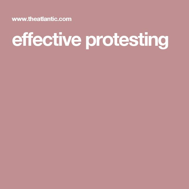 effective protesting