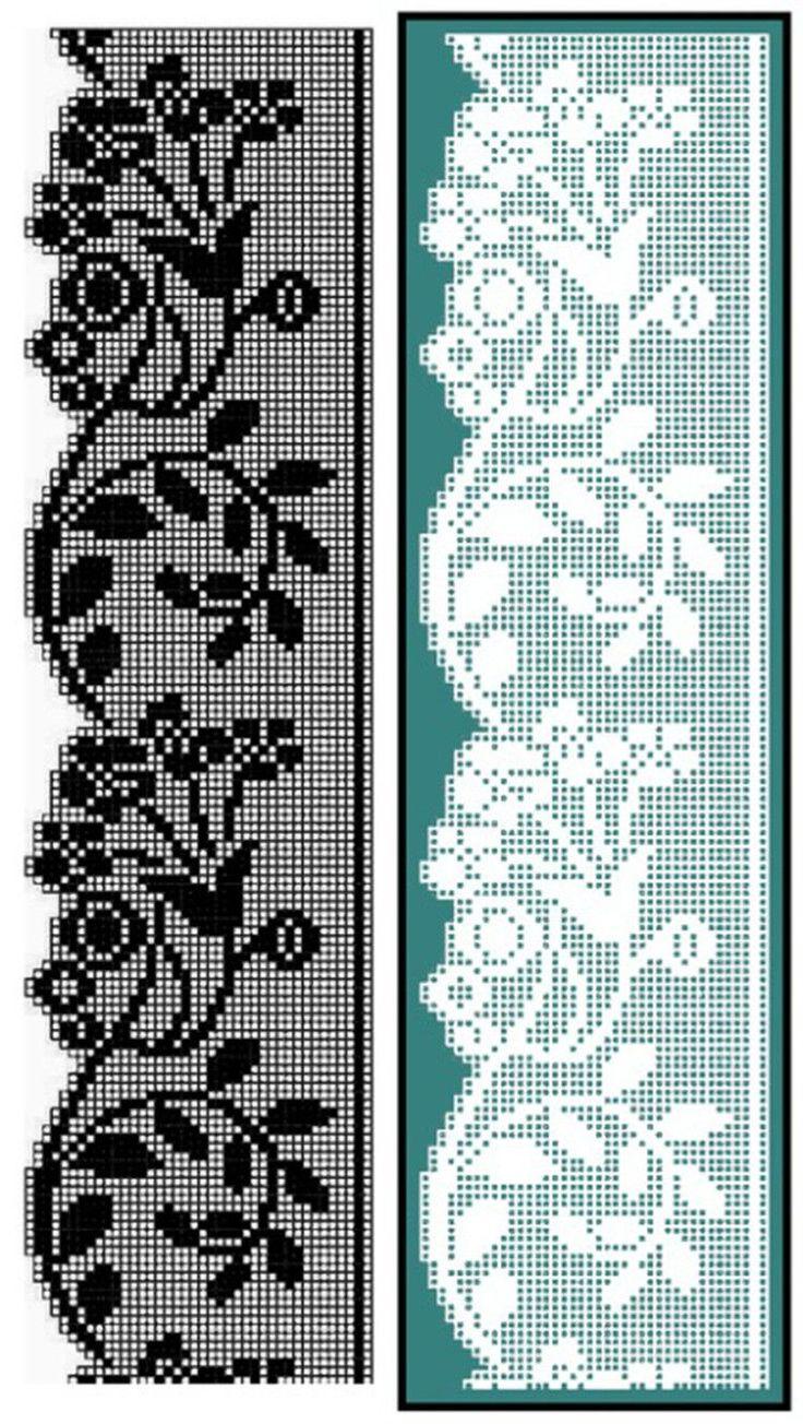 Filet crochet edge