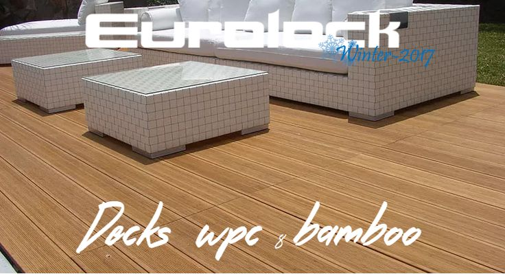 Los pisos exteriores de su hogar lucirán mejor con Deck WPC ó BAMBOO, una solución elegante y ecológica, en variedad de colores y aplicaciones en pisos, muros y más. Contáctenos en: https://www.eurolock.cl/decks-wpc-bamboo