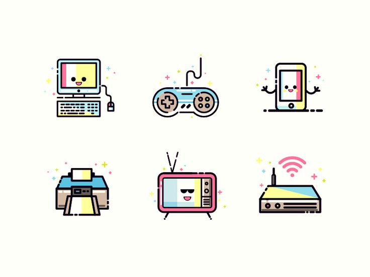 Digital devices - Icons  by Shreyas Bendre