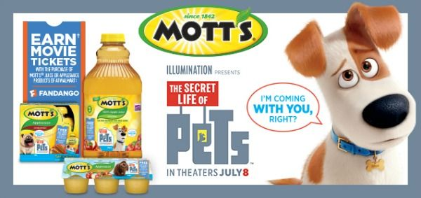 "Need healthy snack ideas for kids to take to the pool and on picnics this summer? Find out how stocking up on Mott's® products at Walmart can save you money and help you score FREE movie tickets to see ""The Secret Life of Pets"" which hits theaters July 8. #MottsMovieBonus #ad"