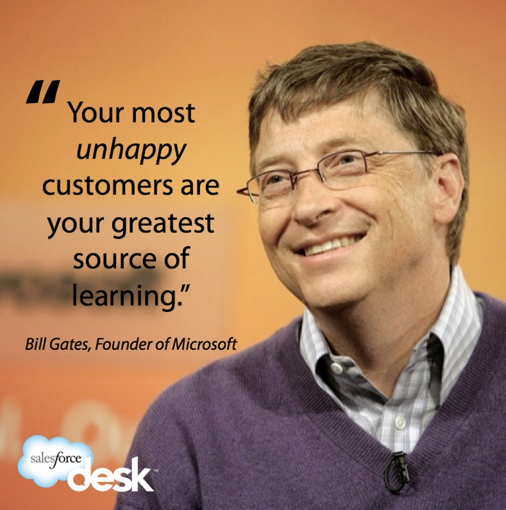 Bill Gates #customerservice #quotes