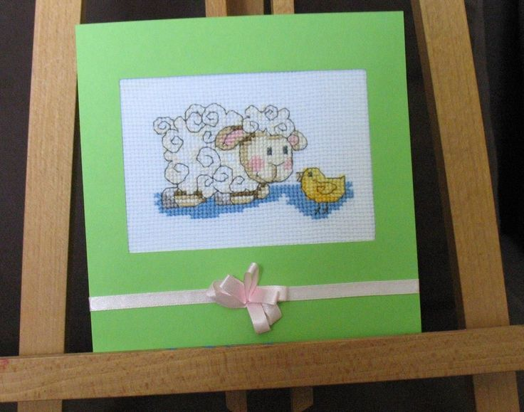 Wielkanoc Easter Oster Karta Z Kopertą Baranek Rękodzieło Handmade B3 | eBay