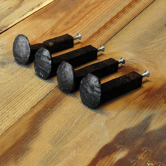 Railroad Spike Hook  Rustic Hook  Hook Supplies by TumbleweedCabin, $12.00