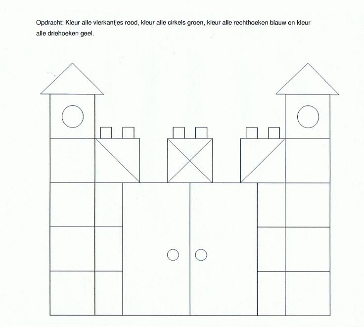 Werkblad vierkantjes kasteel bc ridders en kastelen for Werkbladen ridders en kastelen