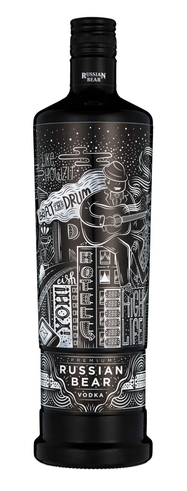 Would buy this just to gaze at the label. #packagedesign // Russian Bear Vodka