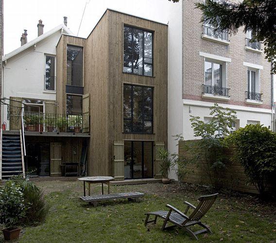 Image large 568 500 extension pinterest fa ades et for Extension contemporaine maison traditionnelle
