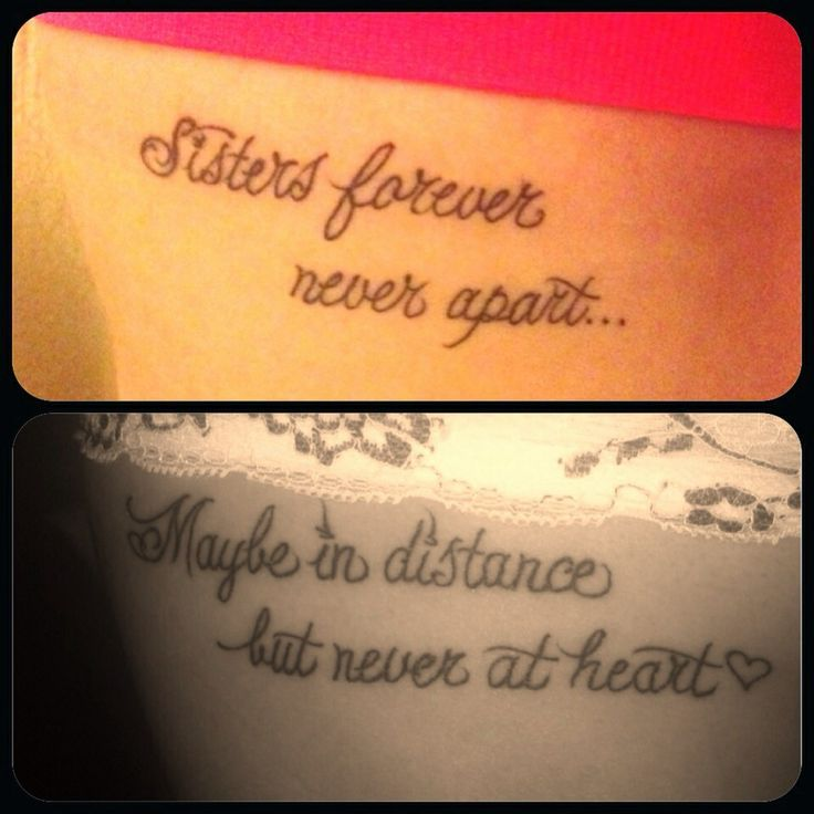 23 Best Meaningful Sister Tattoos Images On Pinterest