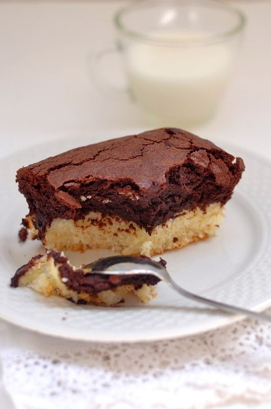 something sweet to a cup of coffee - Chocolate-coconut brownies