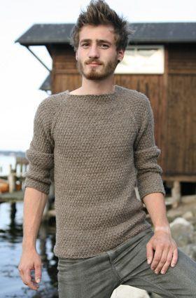 Strikkeopskrift: Raglansweater til mænd