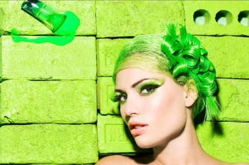 Fashion photographer Jamie Nelson workin' bright colors