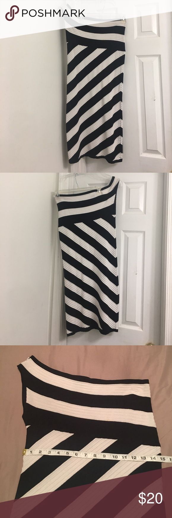 One Shoulder Dress This one shoulder Venus dress has a lot stretch but still holds you in in all the right places.  The stripes give the illusion of an hour glass shape. VENUS Dresses One Shoulder