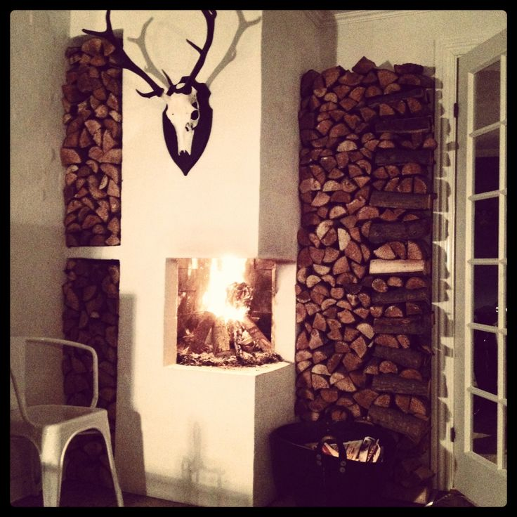 The fireplace - ready for Winter