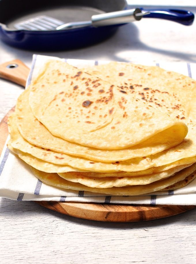 No yeast and hardly any kneading! A soft flatbread that is pliable enough to use as a wrap.