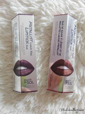 [ ღ CollabReview ღ ] review tinte Metallist Liquid Foil Lipstick Duo by Touch In Sol