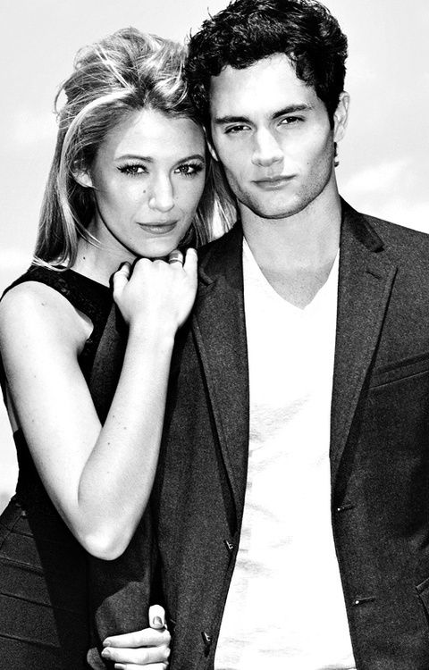 Serena van der woodsen Dan Humphrey aka. Blake lively and Penn badgley On and ex off screen couple