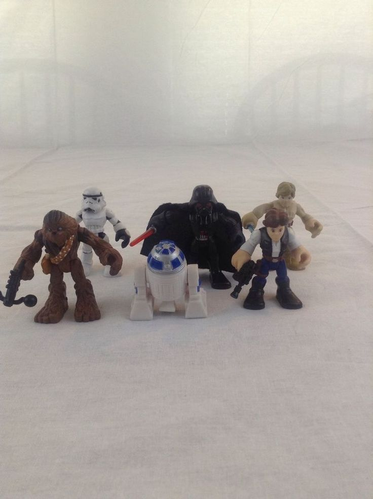 Preowned Lot Of 6 Star Wars Galactic Heroes Action Figures Toy (1) #Hasbro
