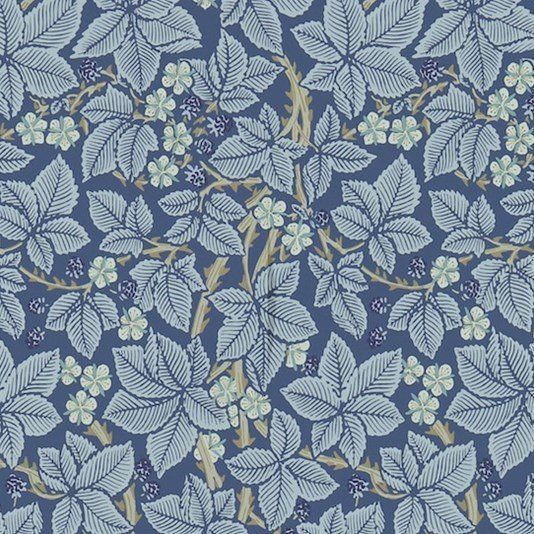 Bramble Wallpaper  Wallpaper  Pinterest  Blackberry bush, Indigo blue and Wallpaper