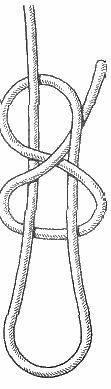 морские узлы - скользящая восьмерка