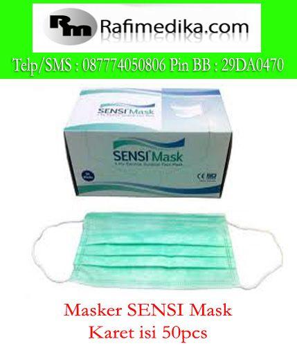 http://rafimedika.com/masker-sensi-mask-tali-isi-50pcs-masker-medis  kami menjual masker medis merk sensi mask karet dan tali. untuk pemesanan hubungi : 087774050806