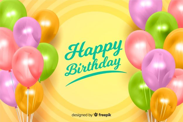 Download Realistic Happy Birthday Background For Free Happy