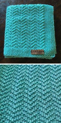 Patrón de tejer gratis para manta de bebé Oden Repeat de 4 filas - Manta de bebé tejida con ...