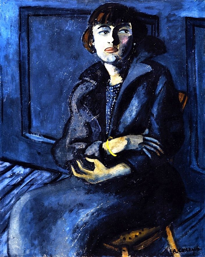 Seated Woman with Crossed Arms Auguste Chabaud - 1912