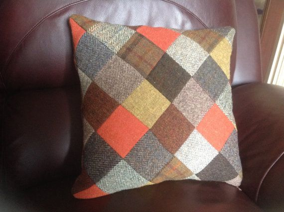 Harris Tweed Patchwork Cushion/ Pillow Cover