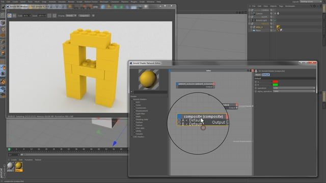 Workflow for adding ambient occlusion to a channel of a C4DtoA standard surface. Using Cinema 4D R17 and Arnold for C4D 1.0.6.0. No Audio.