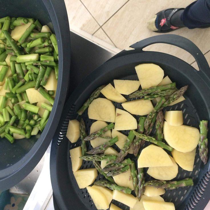 Insalata di patate asparagi e uova sode